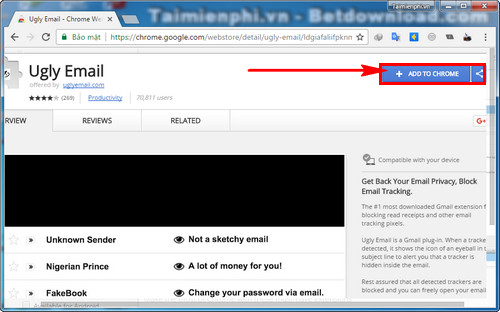 How to follow emails on google chrome