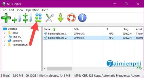 how to merge mp3 file 2 mp3 file audio 1 4