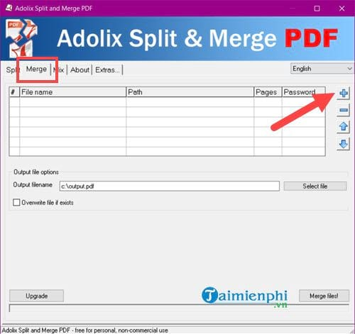 how to say pdf from multiple files 1 file 2