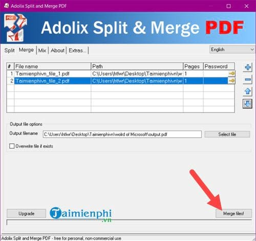 how to say pdf from multiple files 1 file 5