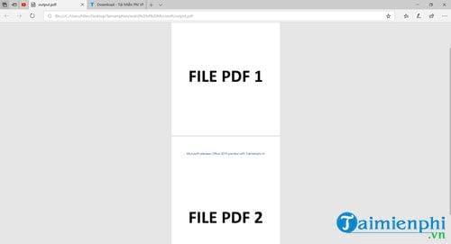 how to say pdf from multiple files 1 file 8