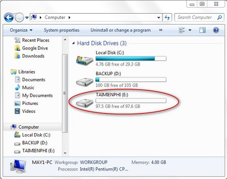 Hard drive partition does not lose data