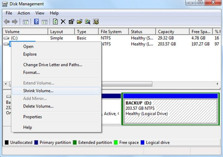 ssd hard drive partition