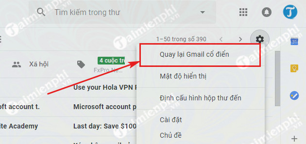 how to revert to an old Gmail gmail 3