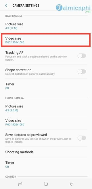 how to shoot 4k on galaxy s8 4