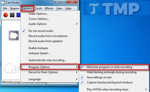 how to record a video screen with camstudio