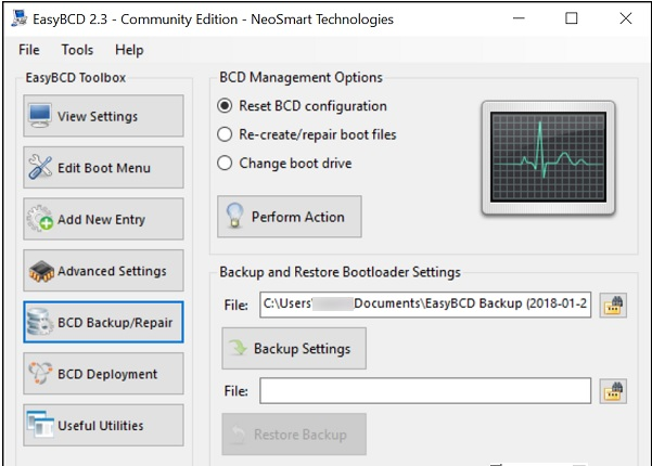How to save and restore bcd files on Windows 10 3