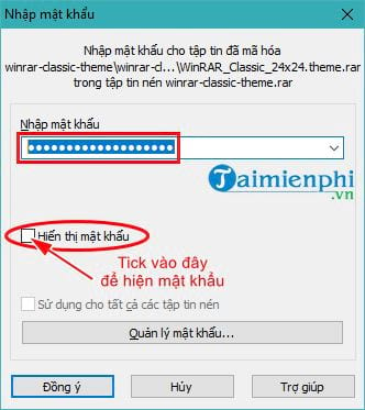 how to show password clean file using winrar 8