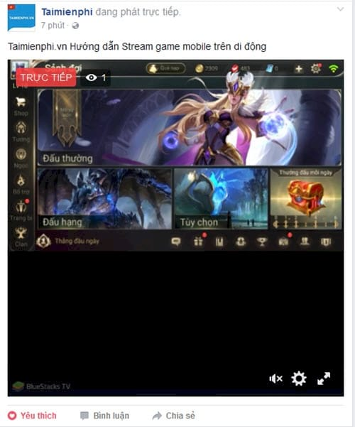 how to stream mobile games on facebook 16