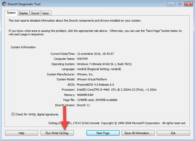 how to use the other directx diagnostic tool 8