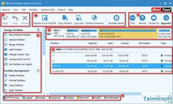 How to use the minitool partition wizard