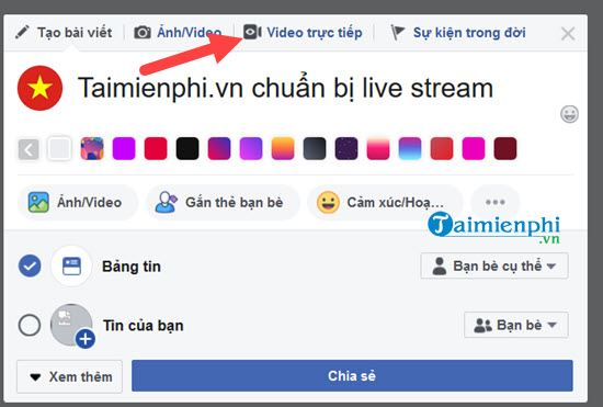 using obs de stream facebook