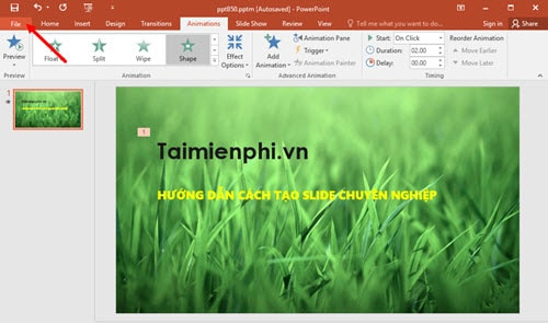 using powerpoint, creating professional training slides