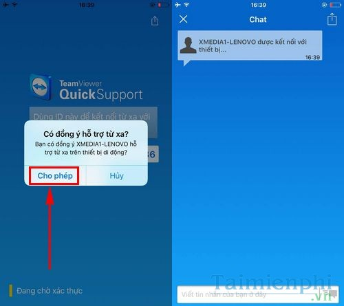 using teamviewer quicksupport to connect to a mobile phone 3