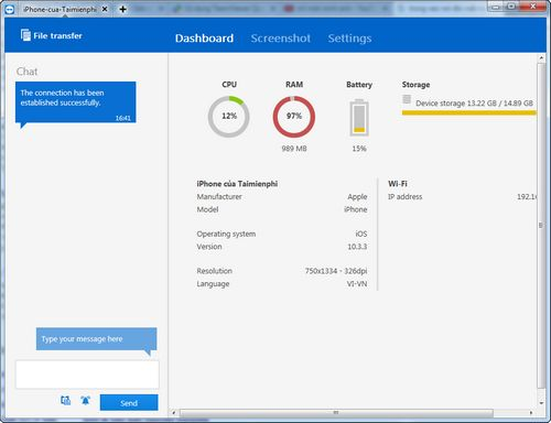using teamviewer quicksupport to connect to a phone 4