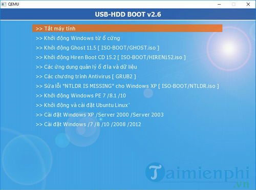 using usb hdd boot 10