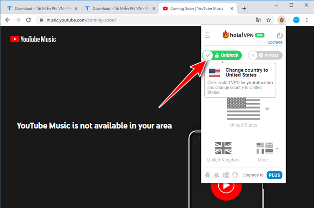 How to use youtube music in Vietnam 3