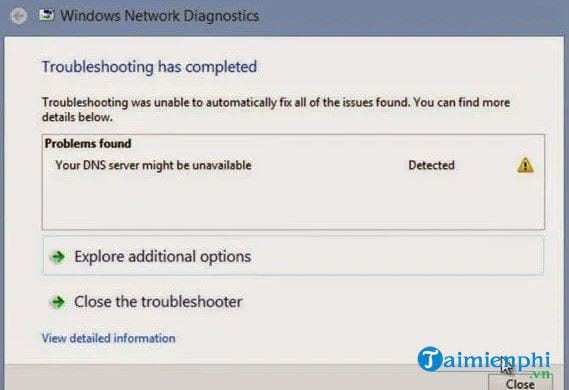 how to fix unavailable server 2