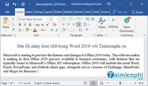 how to fix font fonts in word 2016 5