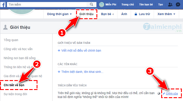 how to edit favorites on facebook 3