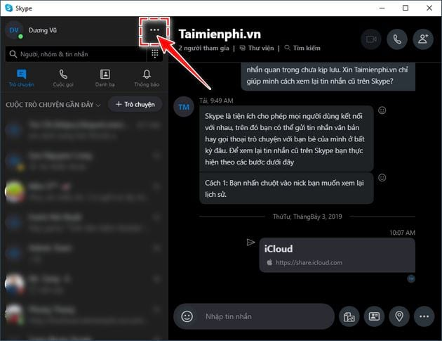 how to chat in skype 2019 2