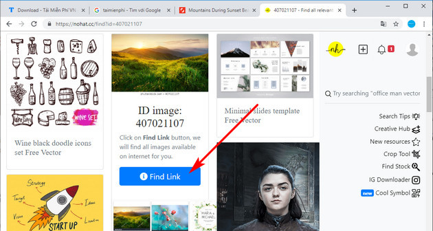 how to connect to the free stock on shutterstock