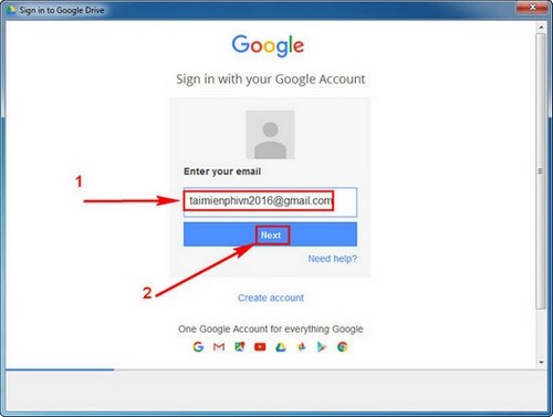how to download google drive service file