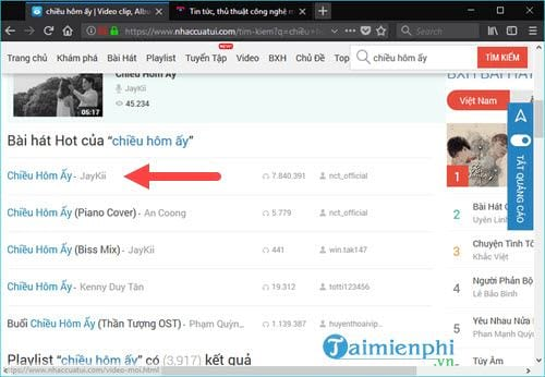 how to download mp3 from Nhaccuatui to your computer 6