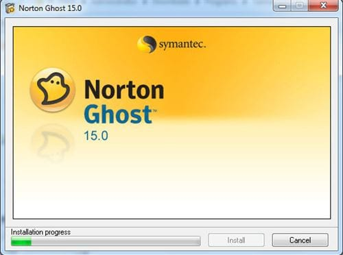 Install norton ghost