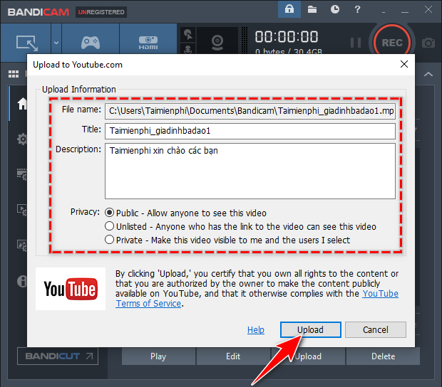 how to download youtube videos directly from bandicam 3