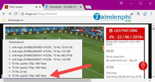 how to download videos on vtv go 5