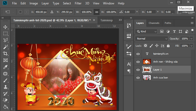 how to create a banner of tet tet 2020 photoshop 6