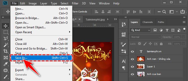 how to create a banner of tet tet 2020 photoshop 8