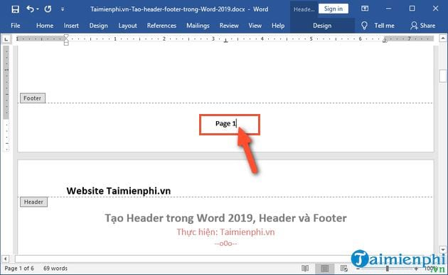 Create header in word 2019 header and footer 3