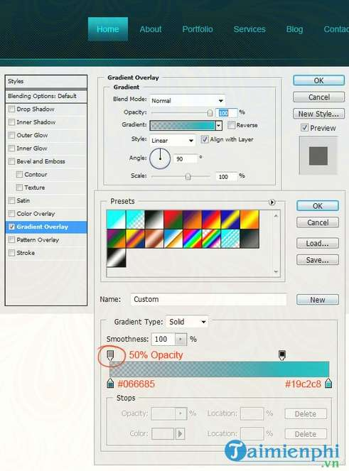 how to create a professional web interface photoshop 34