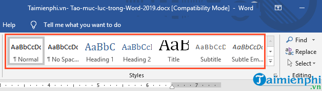 How to create a folder in Word 2019 5