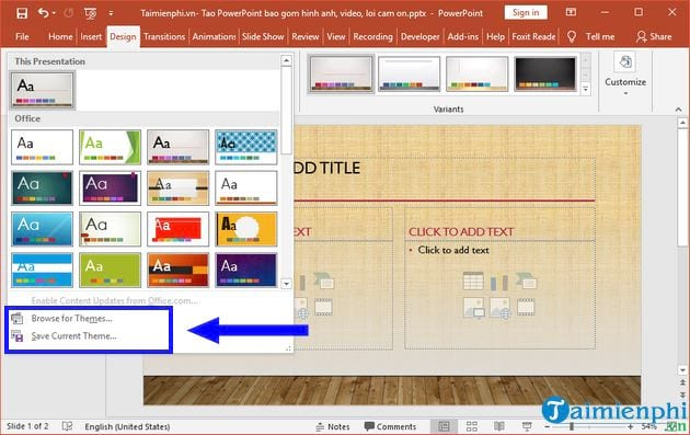 how to create powerpoint including video images on camera 4