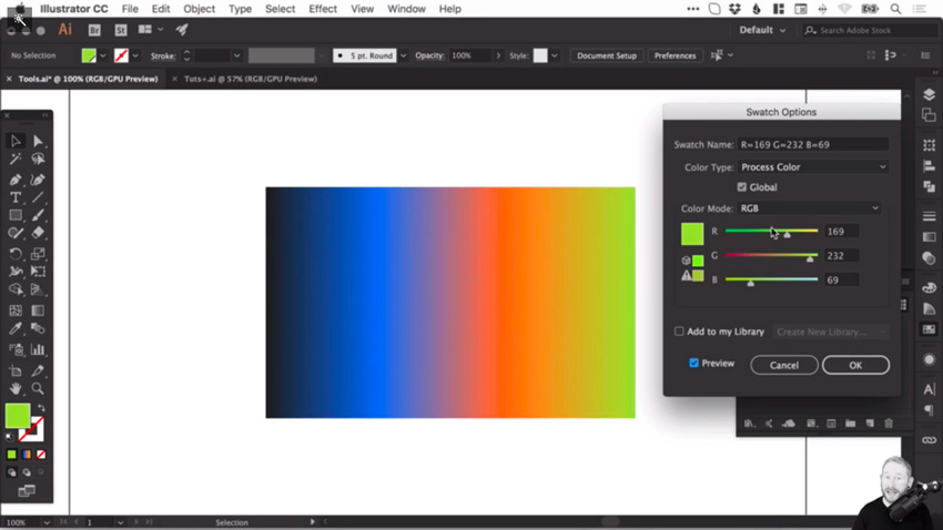 How to create and correct gradients in Adobe Illustrator 6
