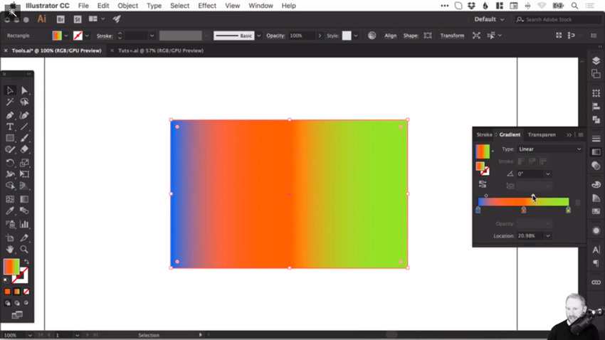 How to create and correct gradients in Adobe Illustrator 9