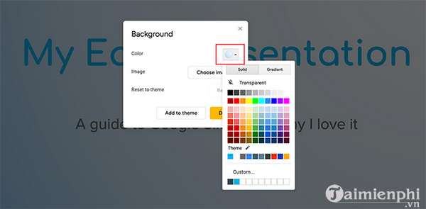 How to create and use gradients in google sides 2