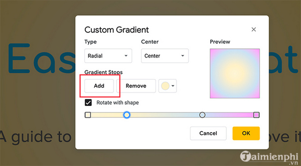 How to create and use gradients in google sides 12