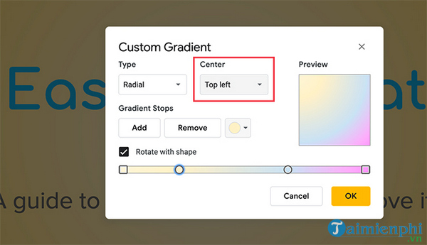 How to create and use gradients in google sides 14
