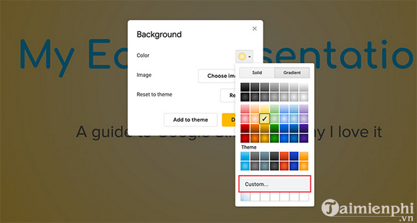 How to create and use gradients in google sides 5