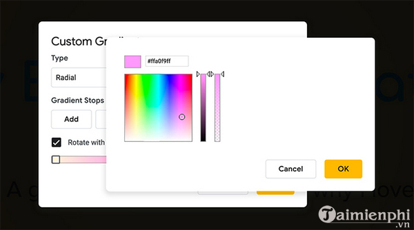 How to create and use gradients in google sides 9
