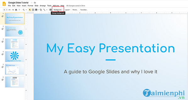 How to create and use gradients in google sides