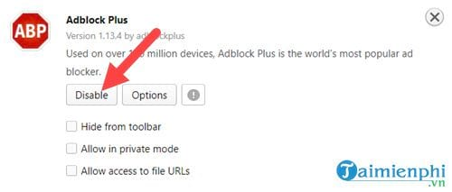 how to disable adblock disable an 12