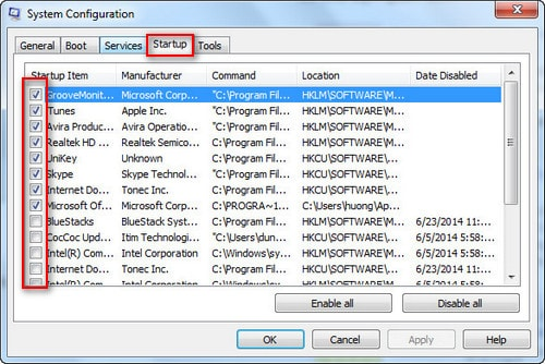 how to remove the program from windows startup