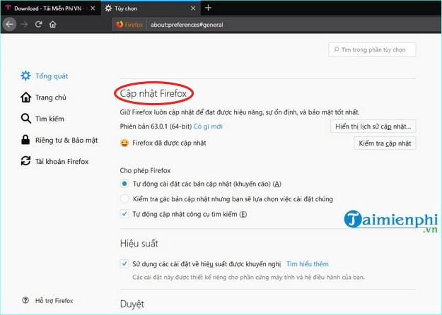how to update firefox 5