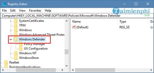 how to disable windows defender state registry on windows 10 4