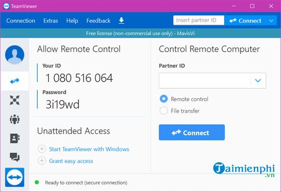 How to change the id of Teamviewer when blocked between 5 minutes 10